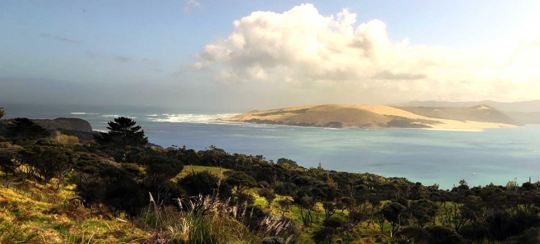 Hokianga Harbour sand dunes,New Zealand