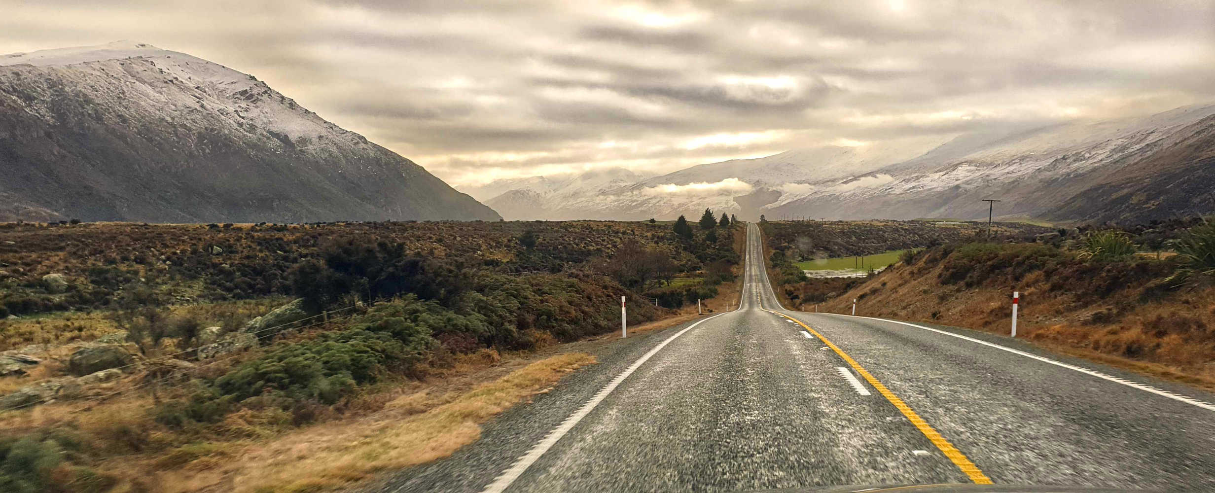 Invercargill to Queenstown winter views,New Zealand