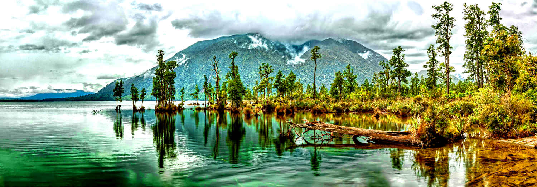 Lake Brunner panorama. New Zealand