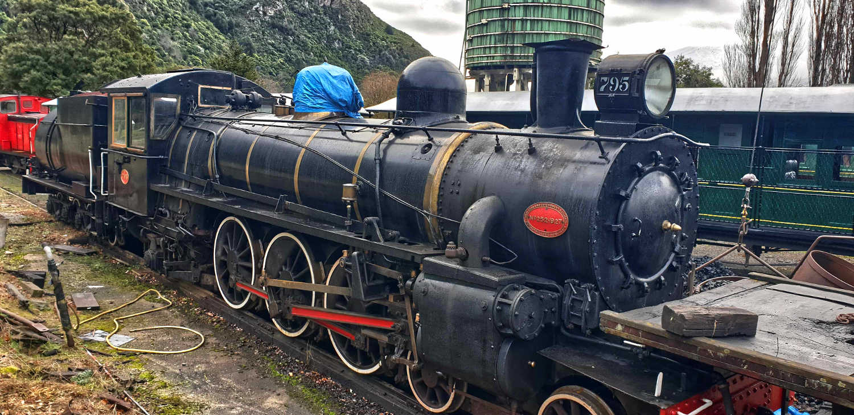 Kingston Flyer locomotive engine, in storage,New Zealand