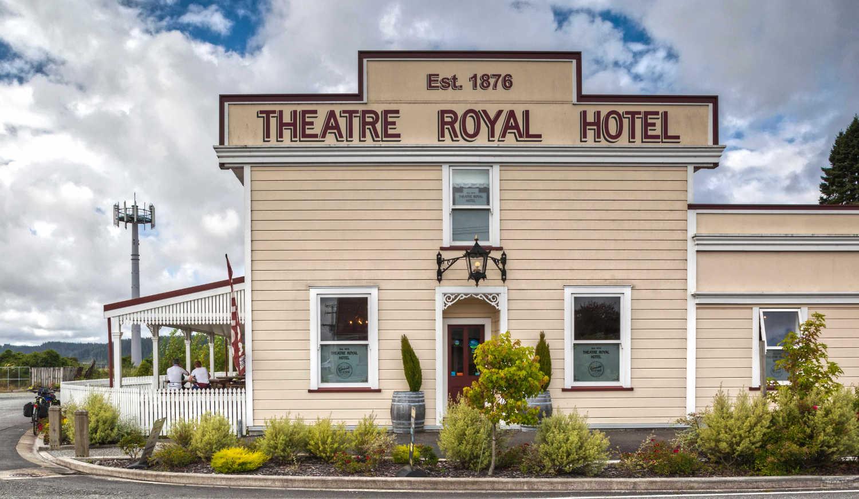 Kumara iconic Theatre Royal now a hotel, West Coast,New Zealand