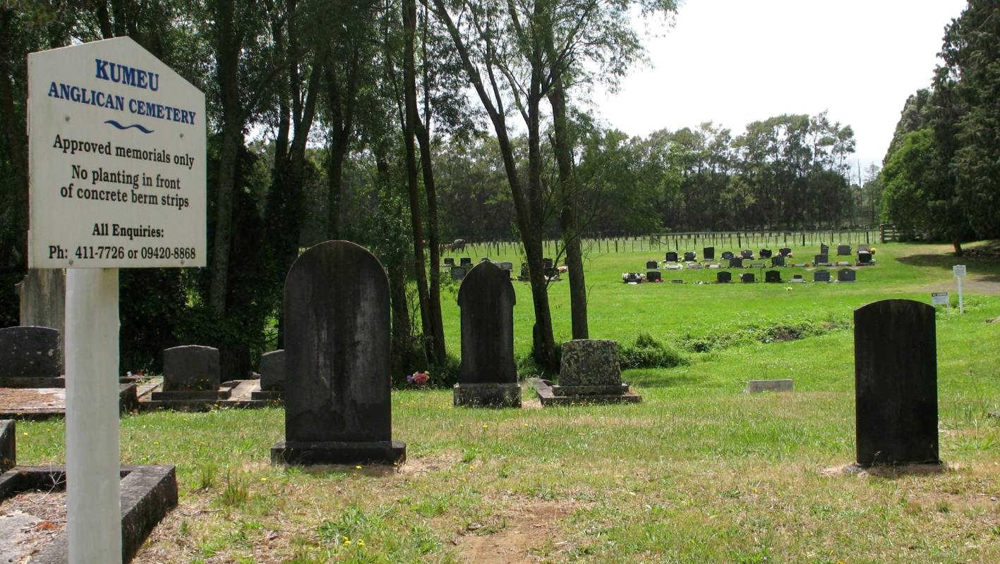 Kumeu Anglican Cemetery, Auckland, New Zealand @Stuff