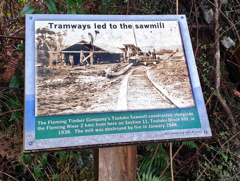 Lenz Reserve information plaque