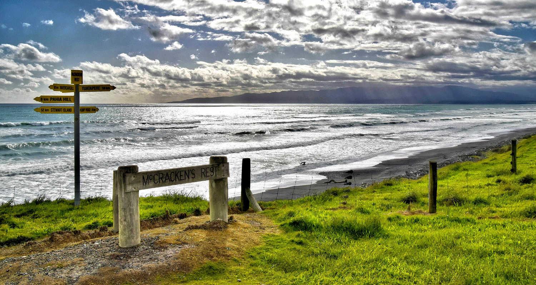 The seascape of McCracken Rest near Tuatapere, New Zealand