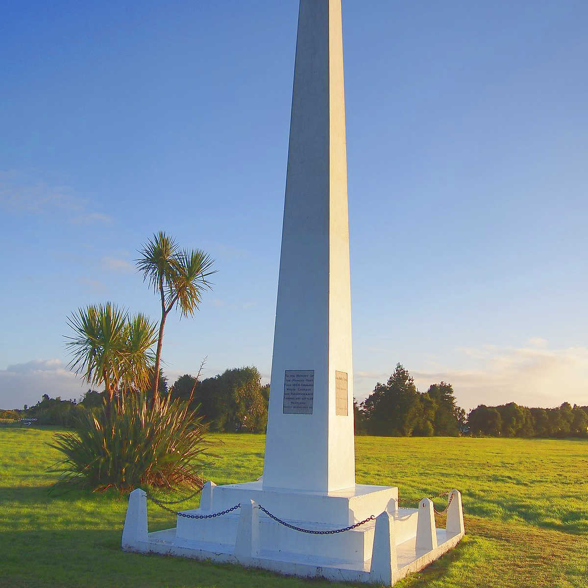 Memorial Obelisk, Okarito, West Coast,New Zealand @Tony Doy