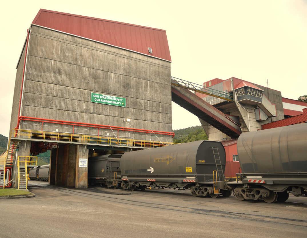 Ngakawau coal terminus for Stockton mine,New Zealand