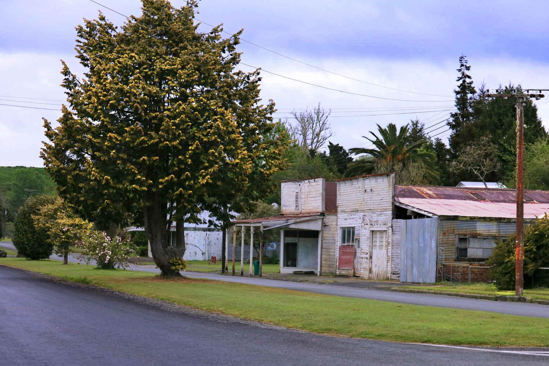 Ohura main street, closed and empty, New Zealand