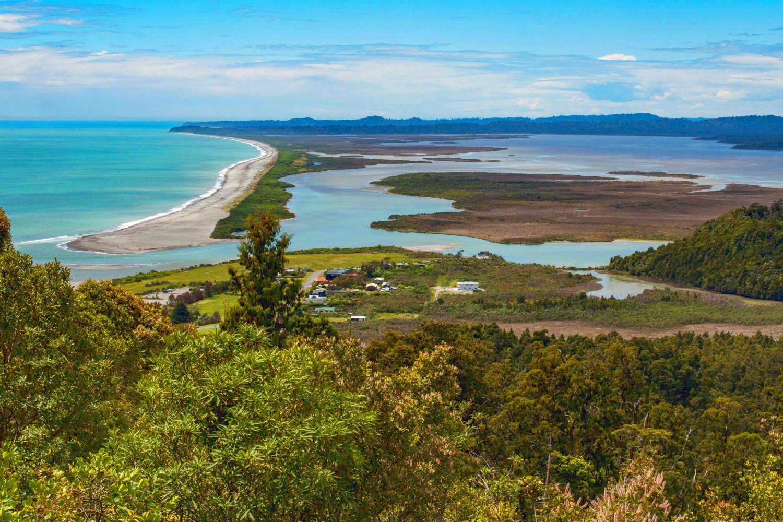 Okarito Lagoon in Okarito, South Island, New Zealand
