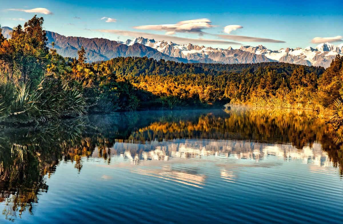 Okarito Lagoon, West Coast, New Zealand