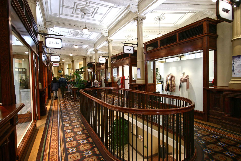 Old Bank Arcade Edwardian interior now an upmarket shopping centre