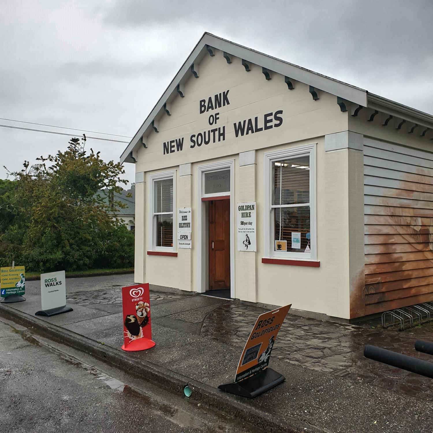 Ross Visitor Centre, former bank, West Coast,New Zealand