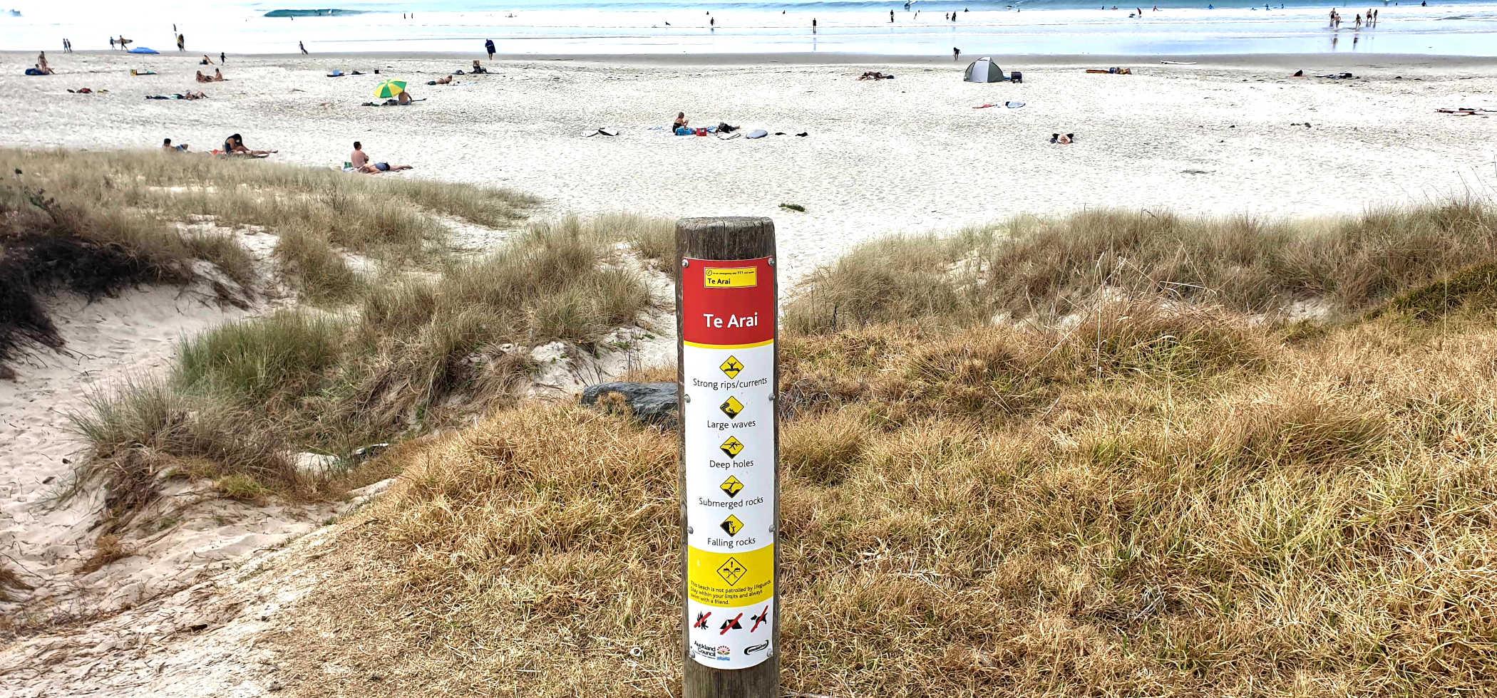 Te Arai Point beach, Auckland, New Zealand