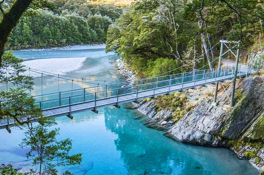 The blue pools of Haast Pass in New Zealand @m.fatani_17