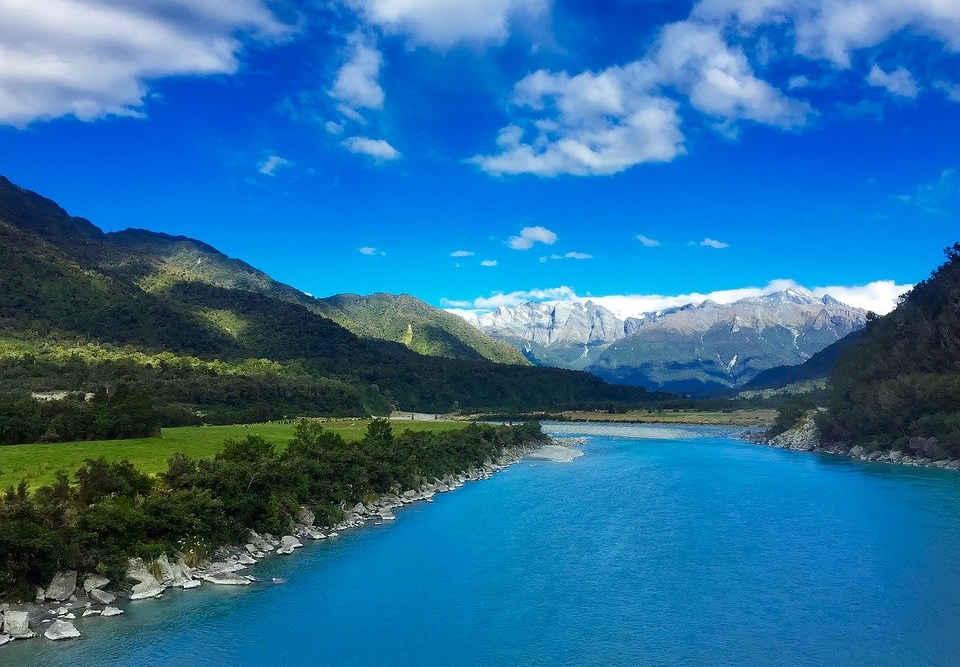 Whataroa river, New Zealand @Pixabay
