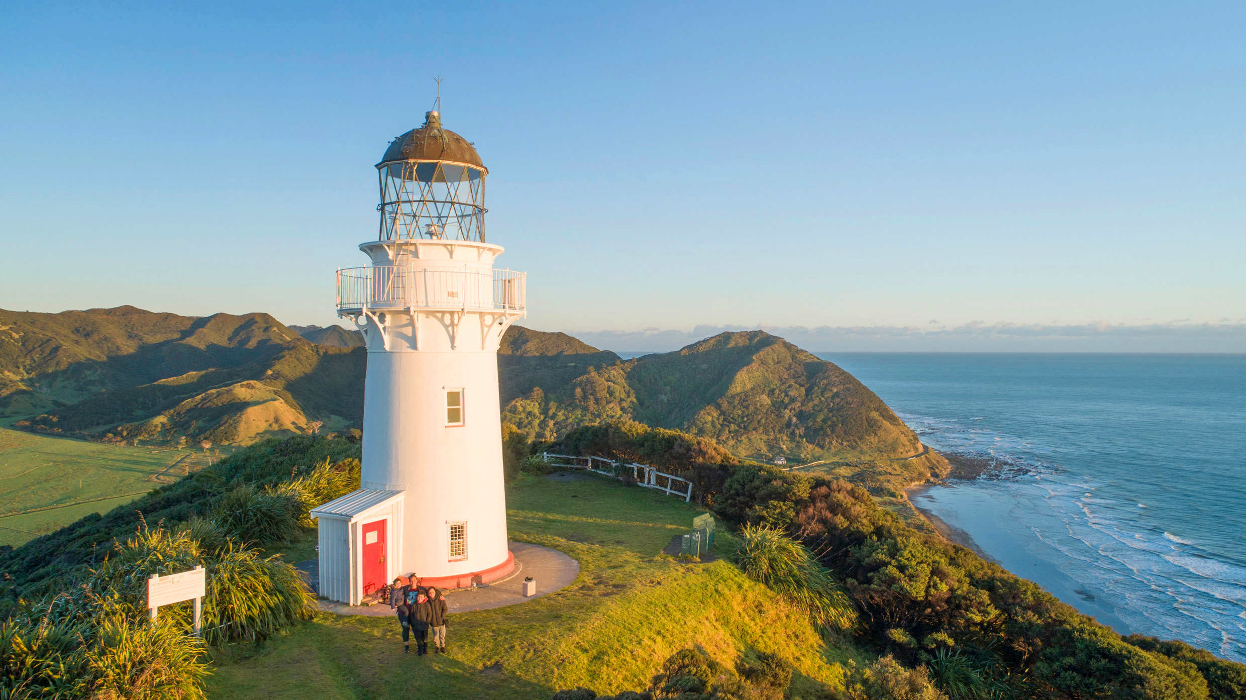 East Cape lighthouse,New Zealand @East Cape Campground