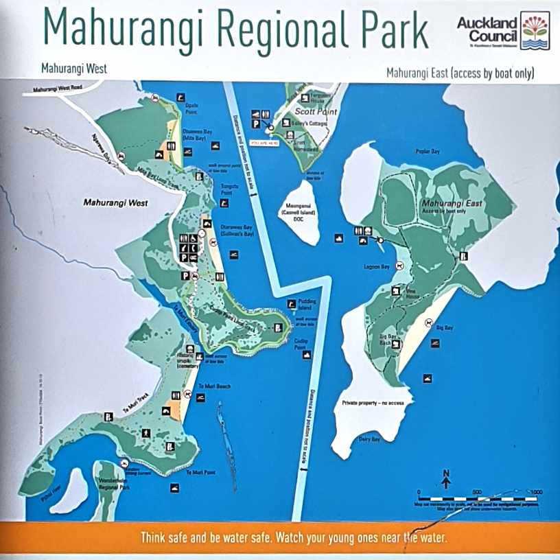 Mahurangi Regional Park map
