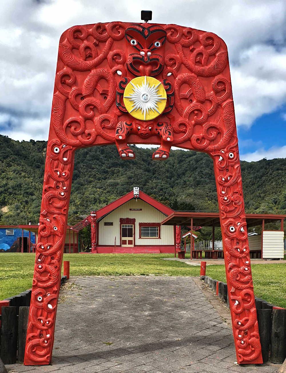 Otuwhare Marae main entrance, East Cape, North Island,New Zealand