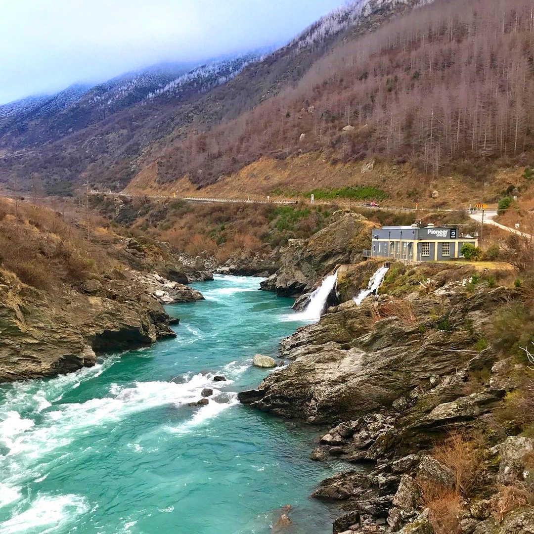 Roaring Meg Power Station Waterfall,New Zealand @ikoiko1023