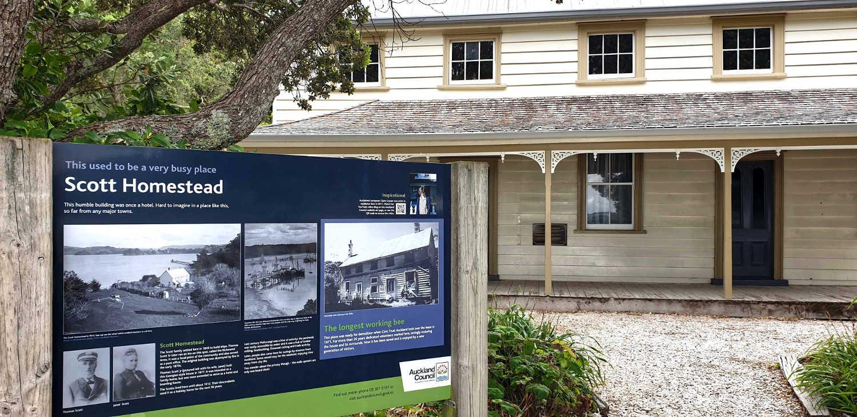 Scott Homestead, Mahurangi East Regional Park, Auckland