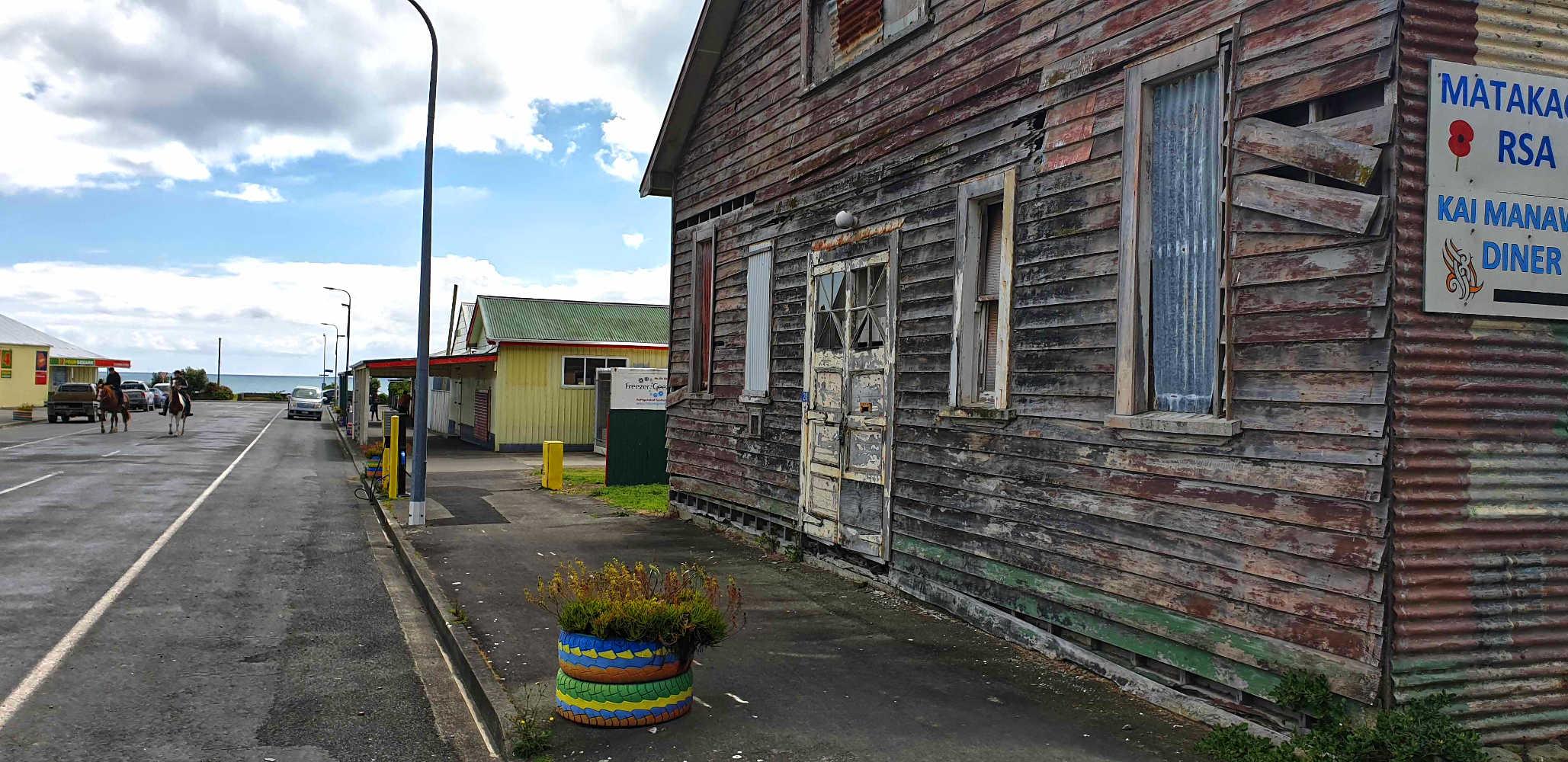 Te Araroa main street,New Zealand