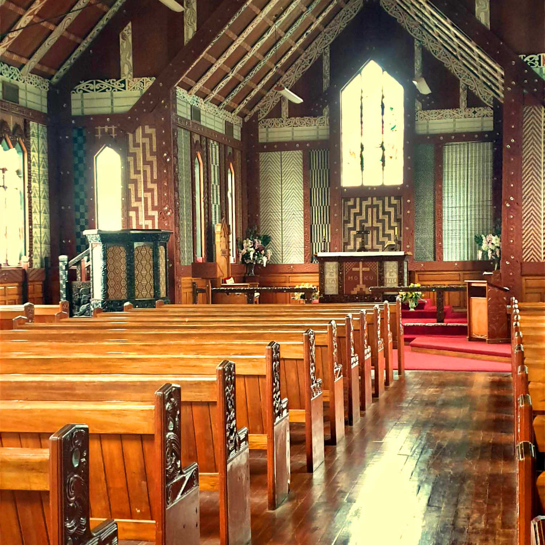 Tititiki church interior,New Zealand