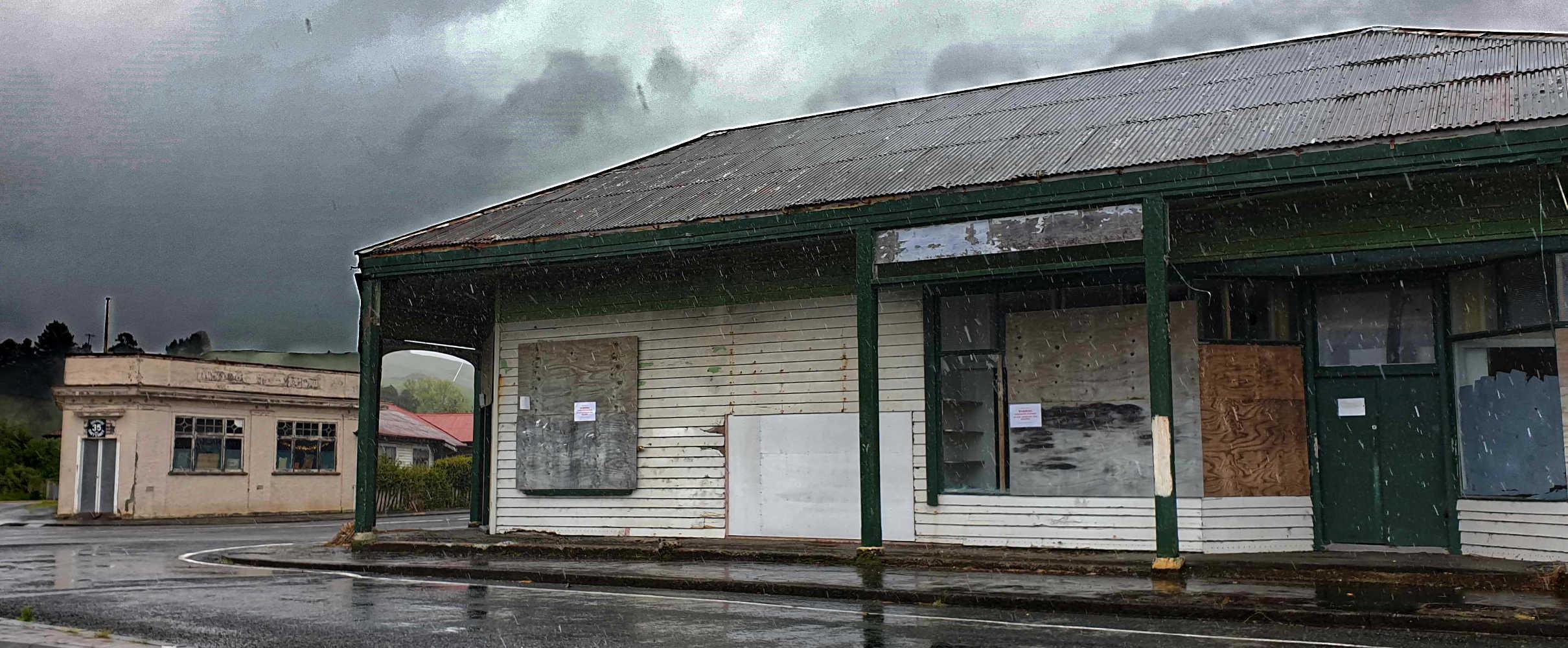 Tolaga Bay closed general store,New Zealand