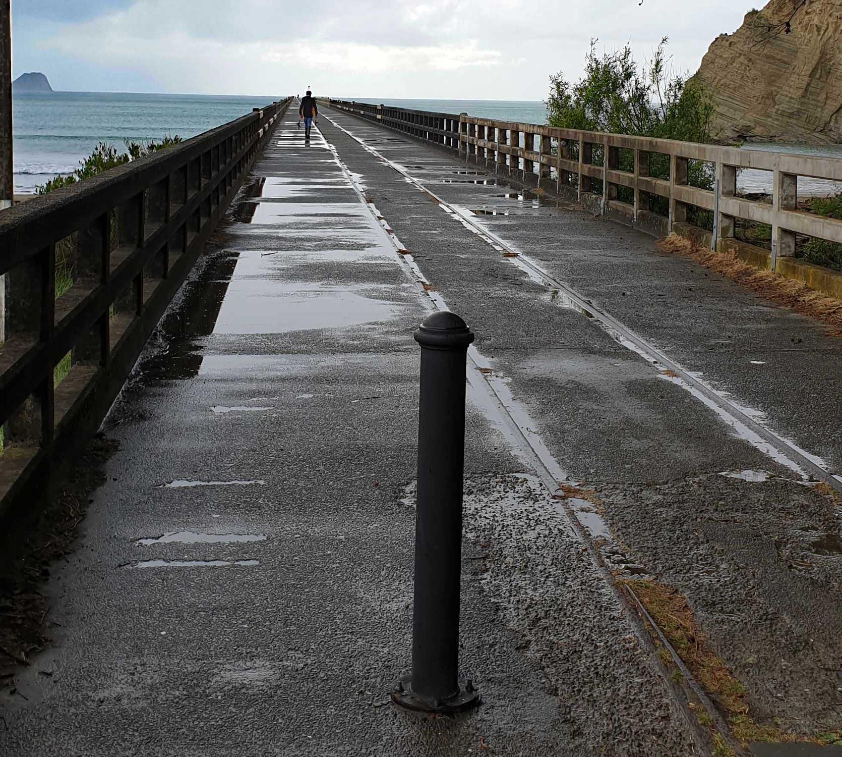 Tolaga Bay wharf walkway,New Zealand