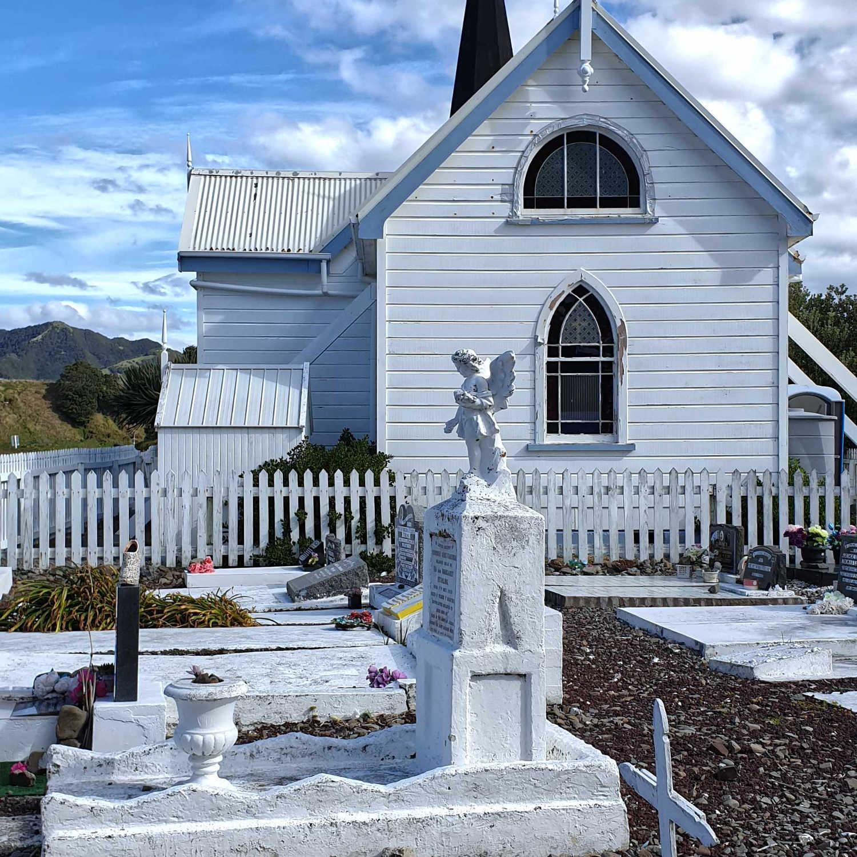 Waihau Bay Anglician church,New Zealand